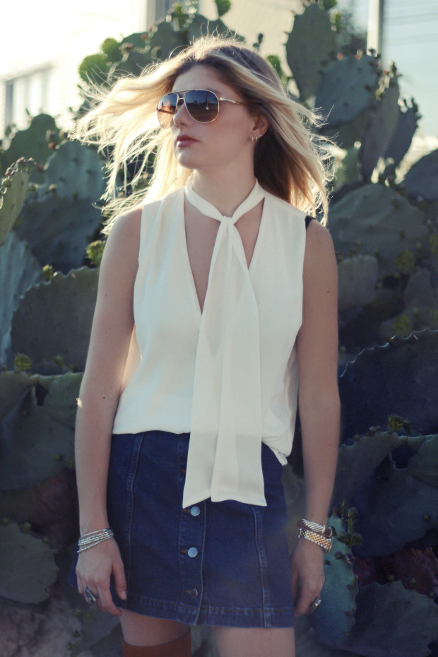 dolce and gabana aviator sunglasses and neck tie top