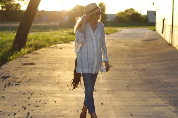 lack of colors hat ysl bag mom jeans topshop shoes