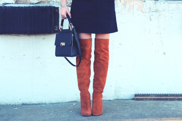 suede topshop knee high boots and balenciaga le dix