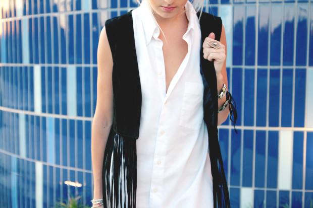 fringe suede vest high end hippie