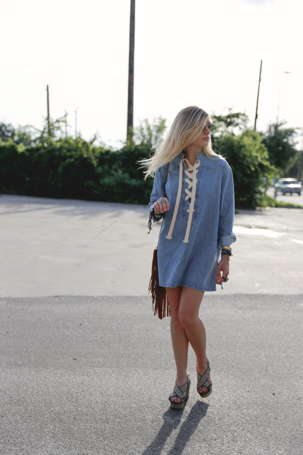 pixie market denim dress