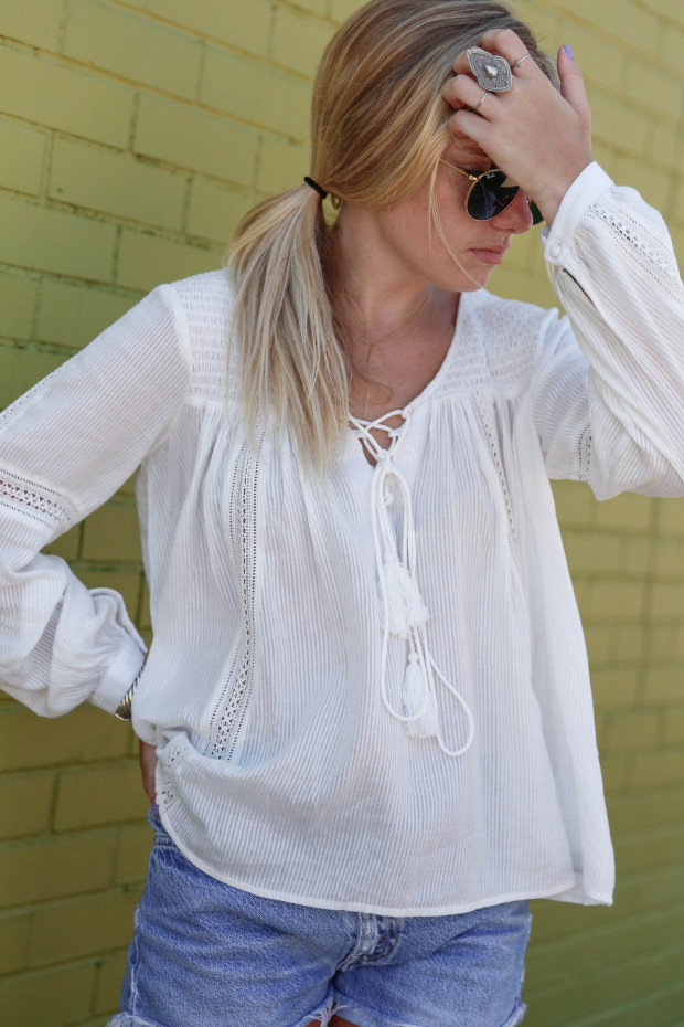 high end hippie peasant blouse
