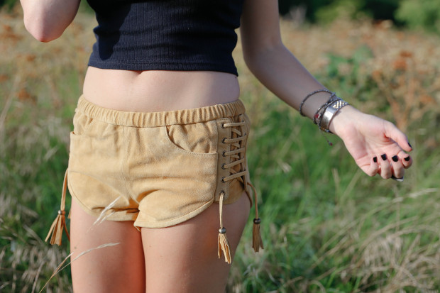 spell byron bay suede shorts