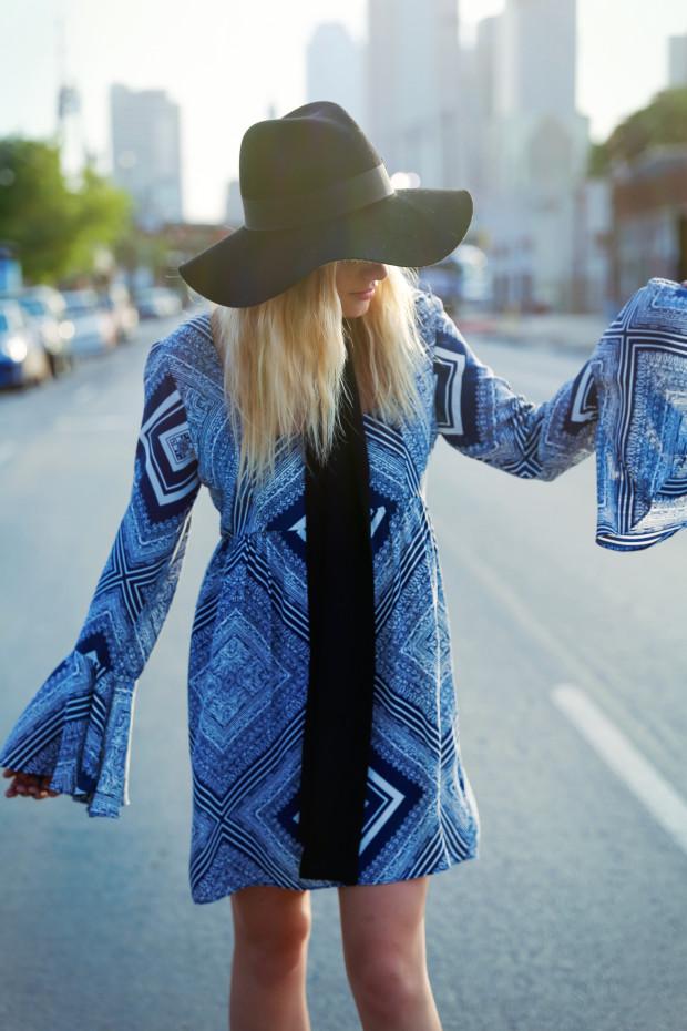 stone cold fox farrah dress and felt hat