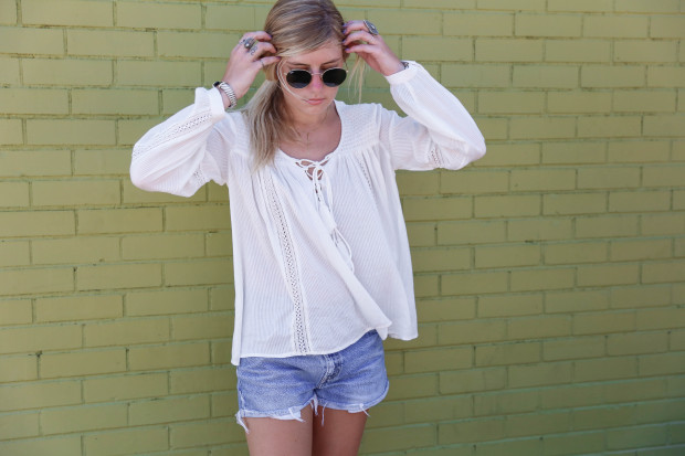 topshop long sleeve poet blouse