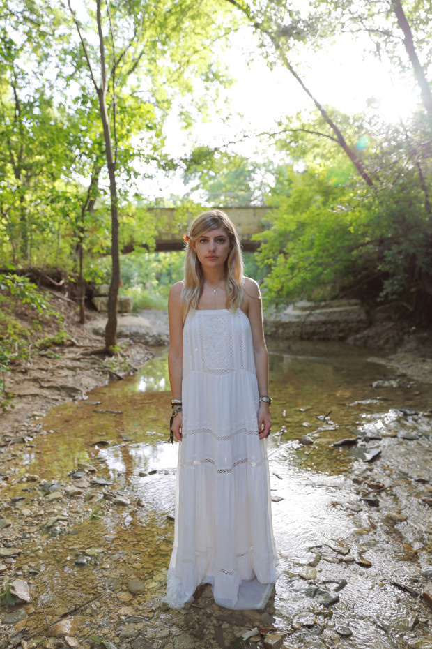 urban outfitters kimchi blue white wash maxi high end hippie
