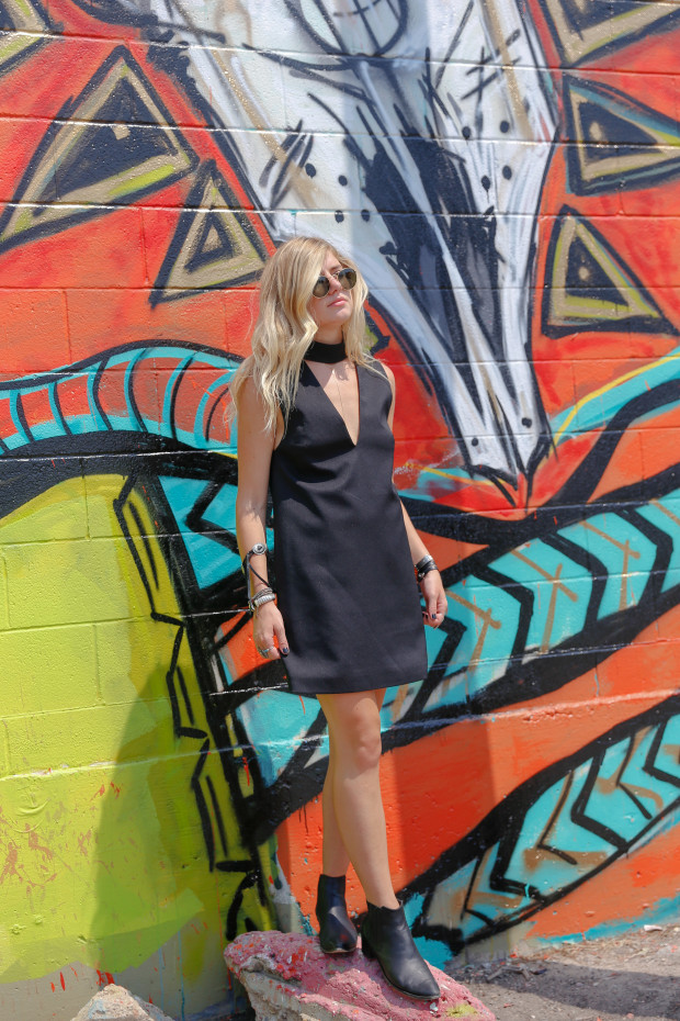 cameo collective dress and booties