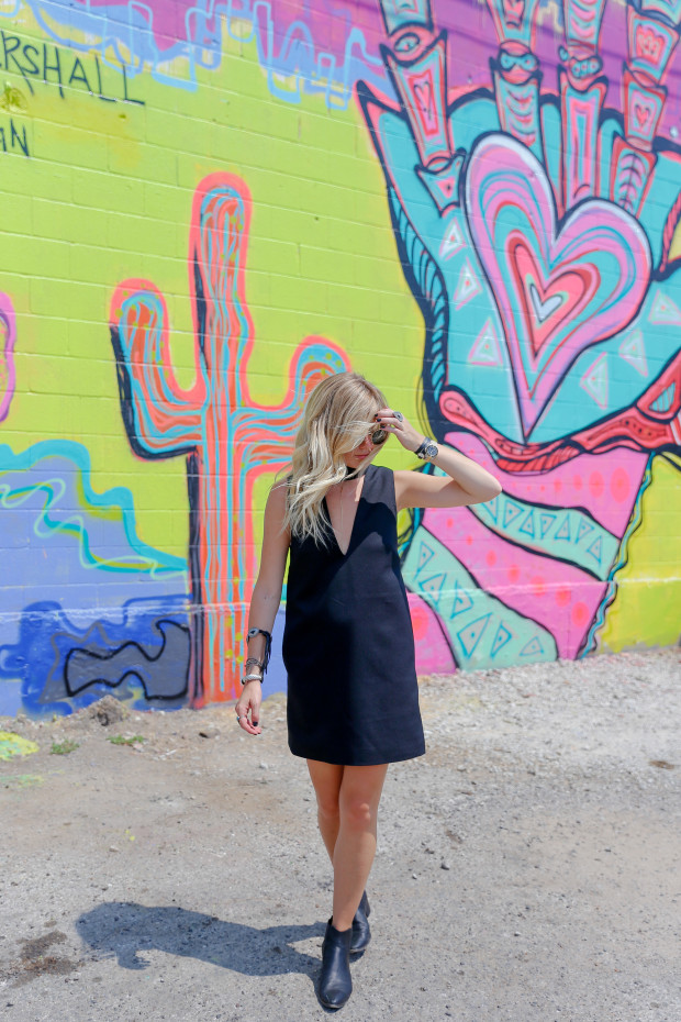cameo collective dress and modern vice booties