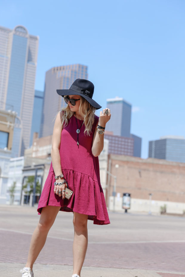 free people drop waist dress and bolo