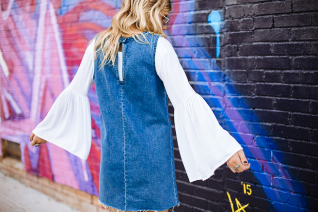 denim dress and bell sleeve top2