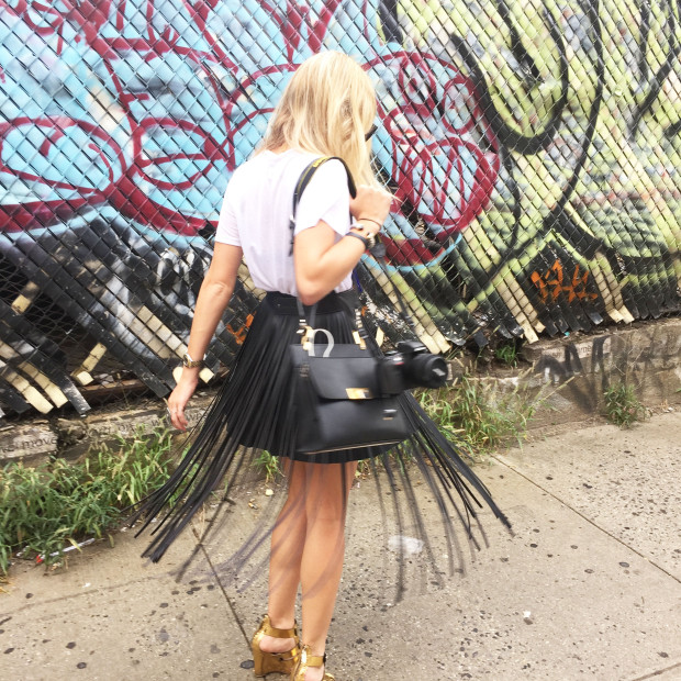 fringe leather skirt high end hippie