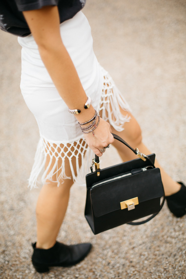 fringe wrap skirt