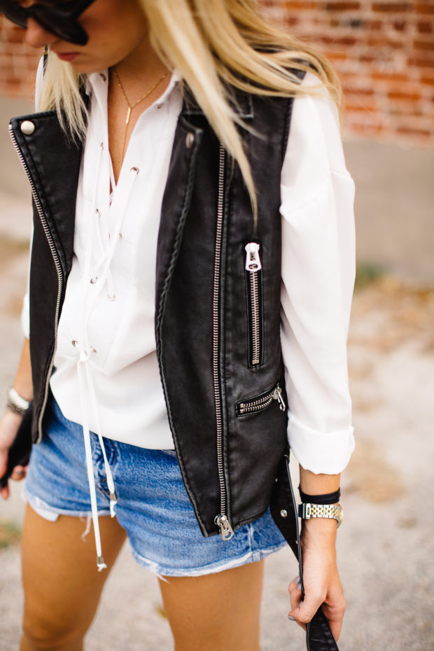 sleeveless biker jacket
