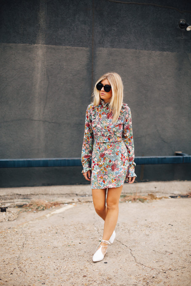 high end hippie floral dress