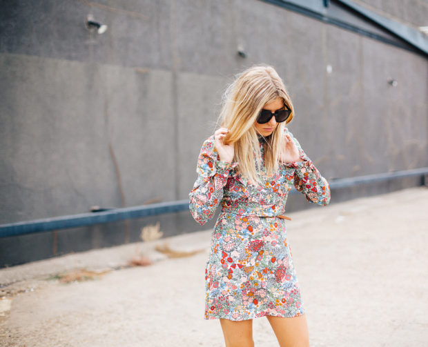 topshop floral mini dress