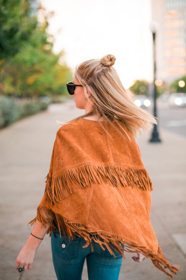suede poncho forever 21