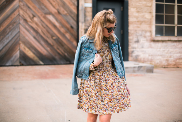 topshop floral print smocked dress