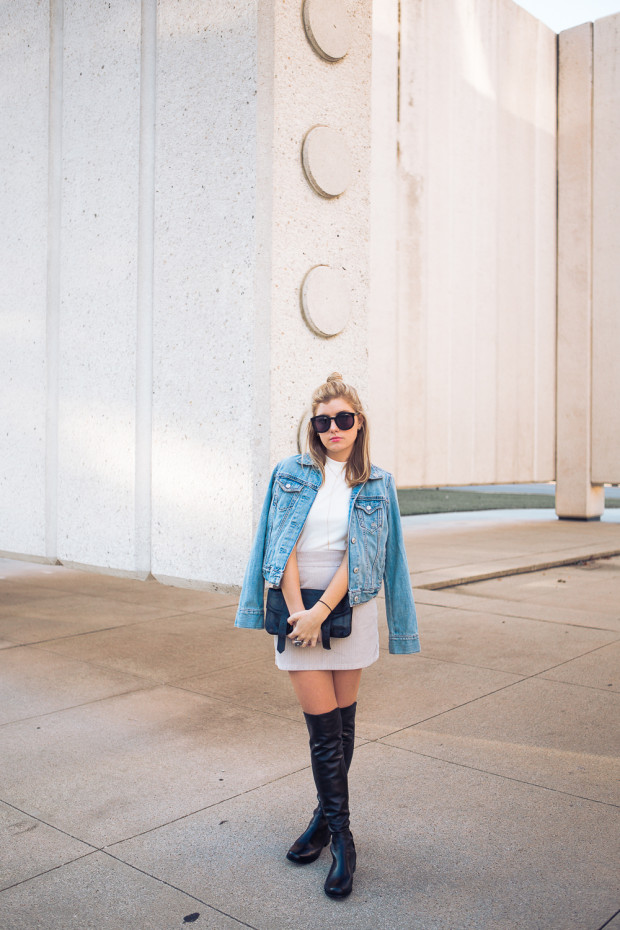jean jacket and cord mini