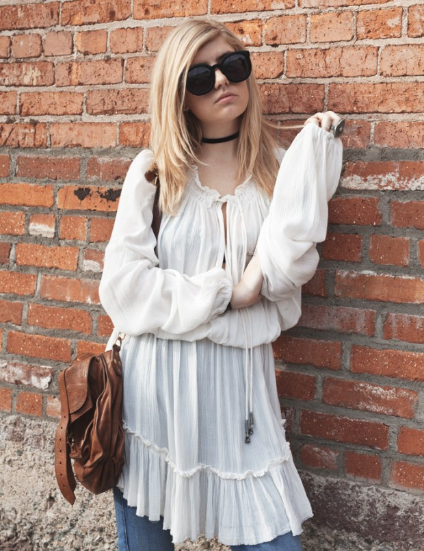 linen free people dress and flares