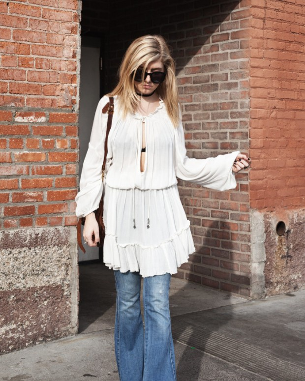 white free people flowy tunic