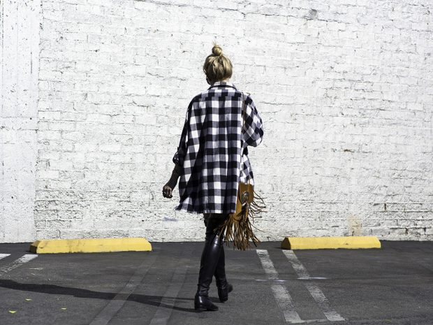 plaid ass bitch dress