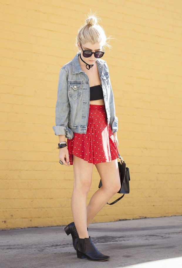 urban outfitters floral skirt
