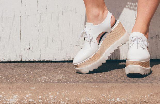 Stuart Weitzman Elyse Cutout Platform Shoes