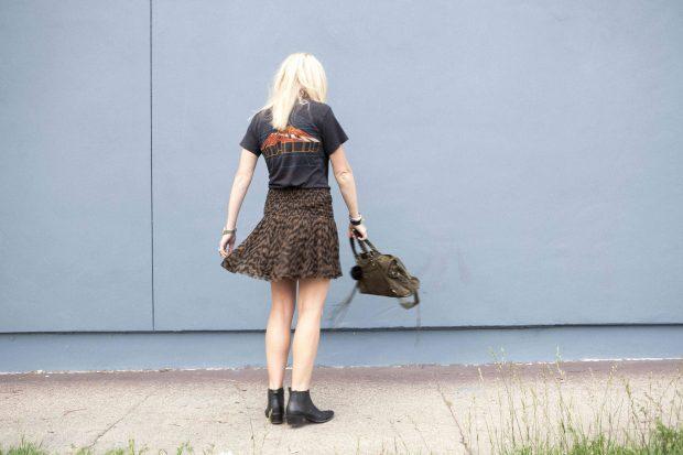 chiffon clounce skirt