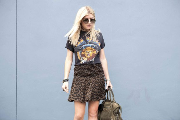 van halen tee and flounce skirt