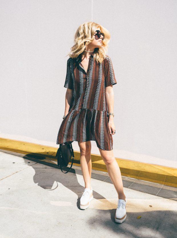 oversize dress and platforms