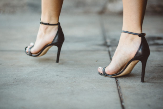 black leather stuart weitzman strappy heels