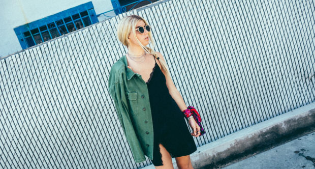 slip-dress-and-army-jacket