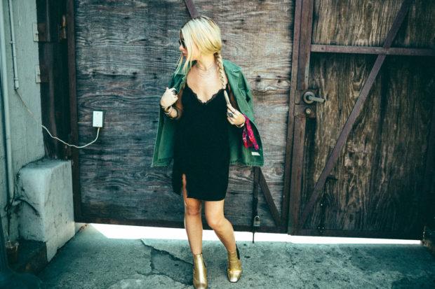 slipdress-and-gold-block-heels