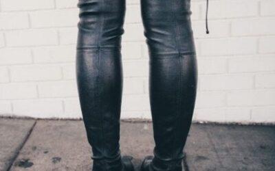 Friday Find: Affordable Black Leather Knee Highs