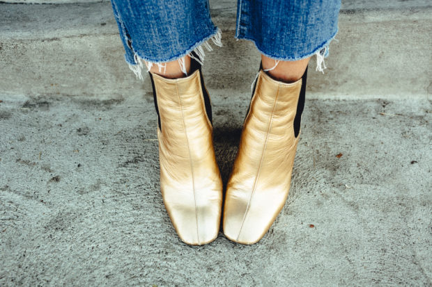 gold-square-toe-booties